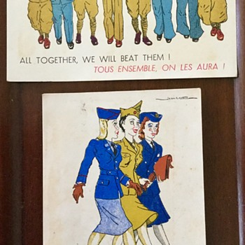Saturday evening auction find. War time propaganda postcards...I think? - Postcards