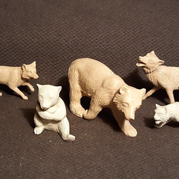Marx North American Mammals From Boys Camp Playset 1950s - Toys
