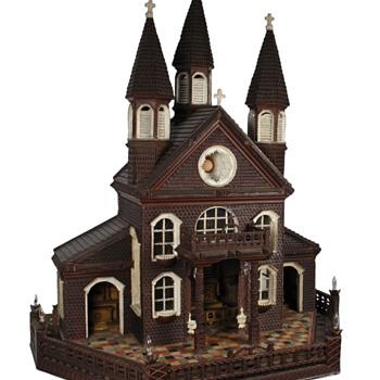 Tramp Art Model Church