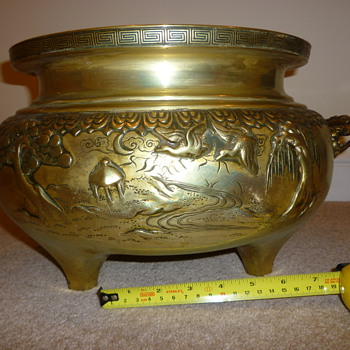 Brass Planter - Asian