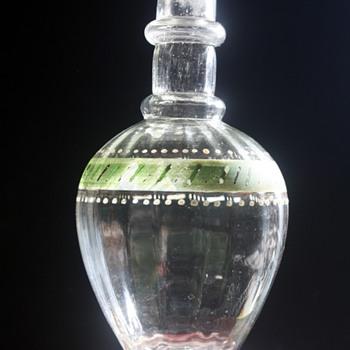 Victorian hand tooled, blown dresser bottle - Bottles