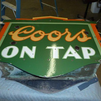 porcelain Coors sign - Signs