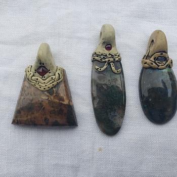 3 Gemstone Pendant - Fine Jewelry