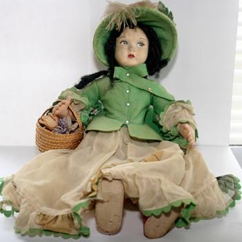 Vintage Cloth Doll Identification Lenci? - Dolls