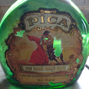 Pica Vin Rose -  Rose Wine Bottle (Montreal Canada)  - Bottles