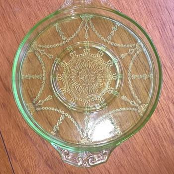 "Anchor Hocking ""Cameo"" Tray - Glassware"