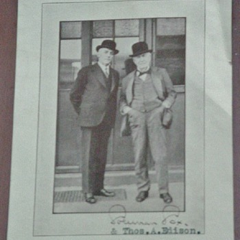 HOO-DAT? with Thomas Edison~known early record artist? - Music Memorabilia