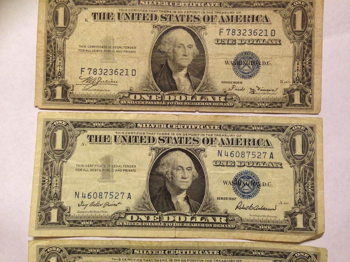 1935e 1935b 1957 One Dollar Bills Collectors Weekly