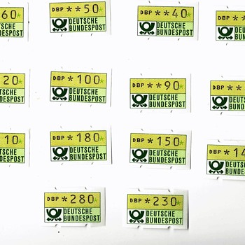 GERMAN VARIALBLE VALUE STAMPS - Stamps