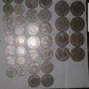 Helvetia silver Dr coins - World Coins