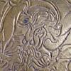 Vietnamese Water Dragon Brass Plate