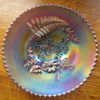 Fern Brand Chocolates Carnival plate - Glassware