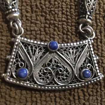 Sterling Filigree ?Bedouin Necklace - Fine Jewelry