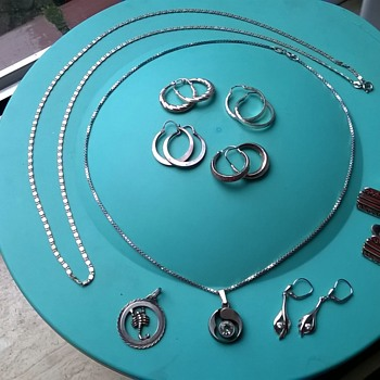 Thrift Shop Find - Silver & Gold Jewelry For $2.00~!  - Fine Jewelry