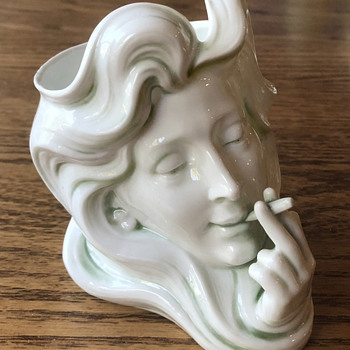 1911 German Porcelain Art Nouveau Smoking Set - Tobacciana