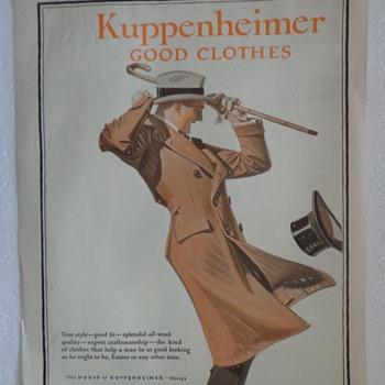 1921 Kuppenheimer Ad  - Advertising
