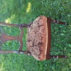 Upholstered seat vintage chair/dining chair