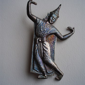 Siam Sterling Dancer Brooch - Fine Jewelry