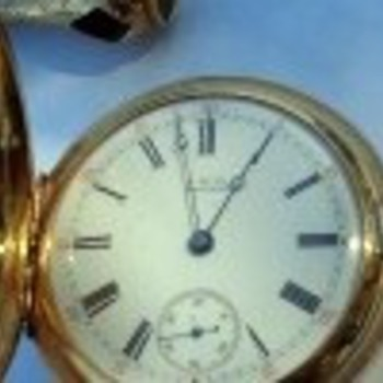 1878 , 18kt Gold Waltham Pocket Watch