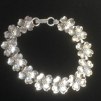 Beau Sterling Dogwood Bracelet - Costume Jewelry
