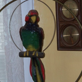 Vintage Parrot Macaw, chalkware.