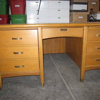 Rescued desk made by Preston Ltd. - Furniture