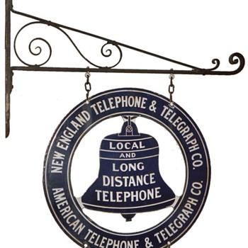 New England Telephone & Telegraph Co. Business Office Bracket Sign - Signs