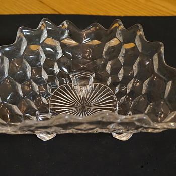 Fostoria #2056 'American' 3-toed trifold bonbon Candy Dish - Glassware