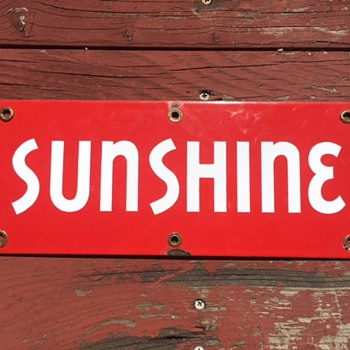 Red Sunshine Beer Sign - Breweriana