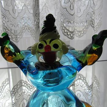 Clown ashtray - Art Glass