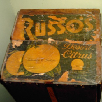 Russo's Desert Citrus Crate - Advertising