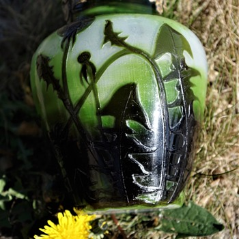 CLAIN & PERRIER CAMEO GLASS VASE FRANCE  - Art Glass