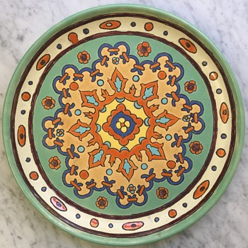 """On the backside, """" California Padre 108"""".   Approx. 16"""" across. - Pottery"""