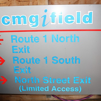Original Gillette Stadium Traffic Sign - Football