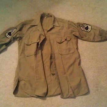 Grandpa's WWII Army uniform (shirt and hat) - Military and Wartime