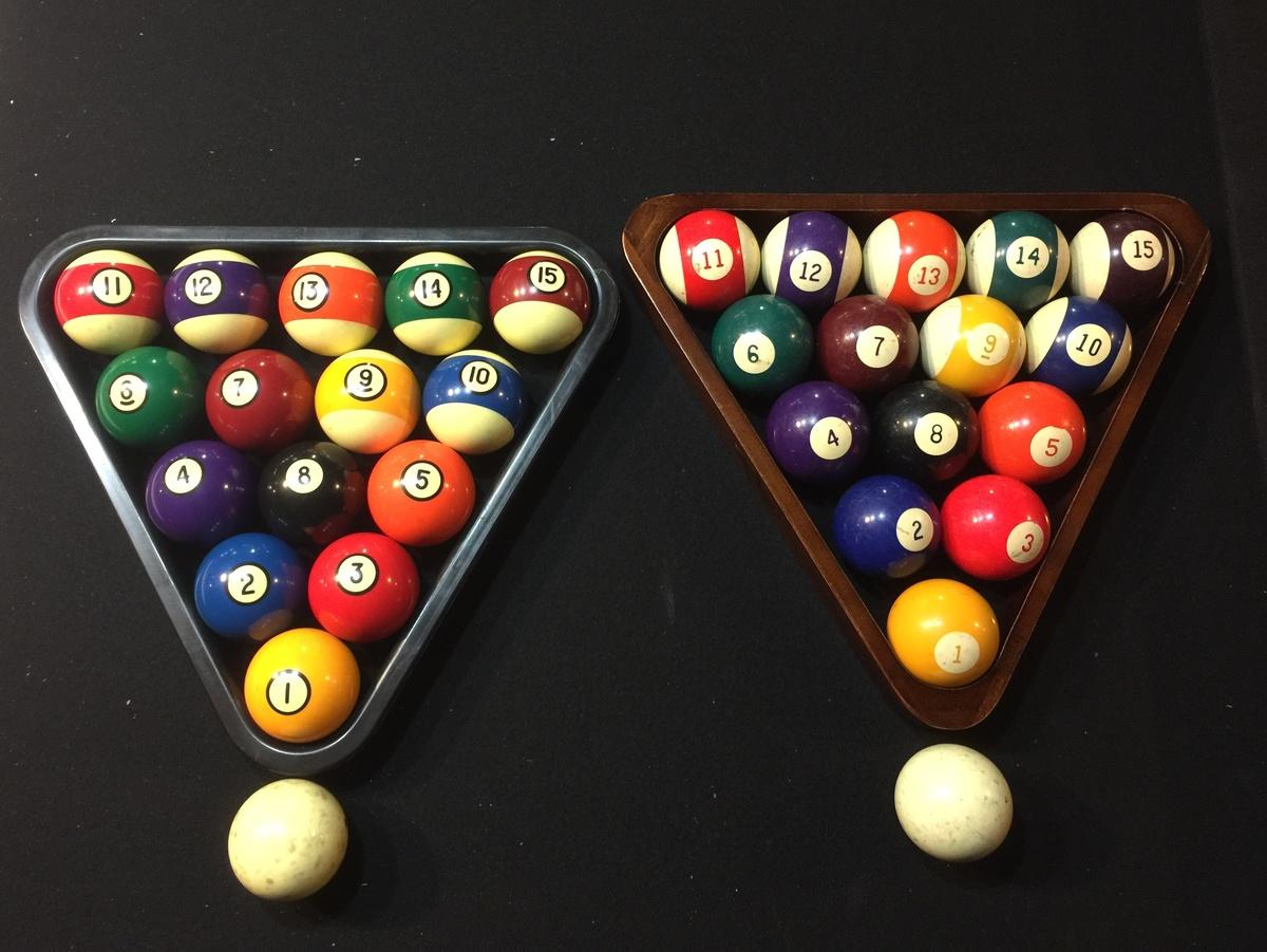 Vintage Billiard Balls The Numbers Are Sideways