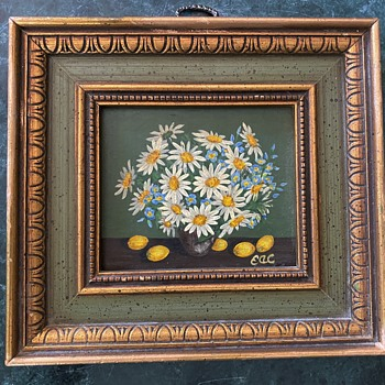 Tiny Painting of Daisies - Fine Art