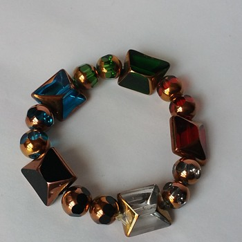 Art glass bracelet - Costume Jewelry