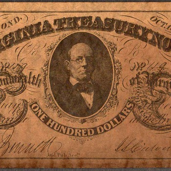 Confederate Currency - Novelty Note (Virginia) - US Paper Money