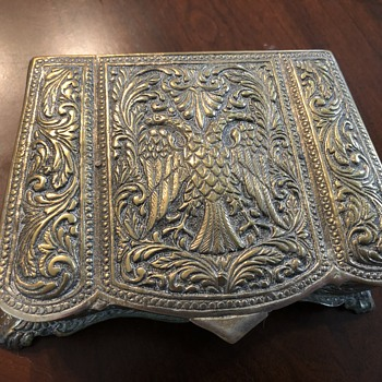 Metal Imperial Russian box - Silver