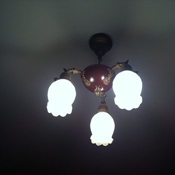 antique pan lamp - Lamps
