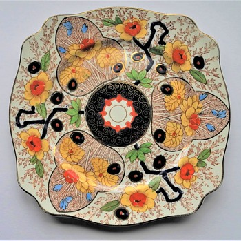 """Wilkinson's pottery Cake plate c1900. """"Cairo """" pattern - Pottery"""