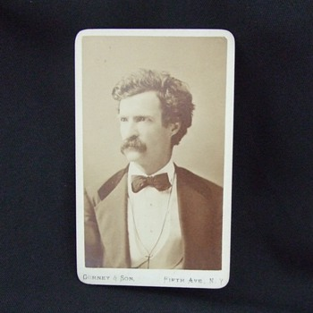 Early Mark Twain CDV - Photographs