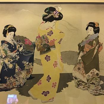 A Japanese Wood block print?