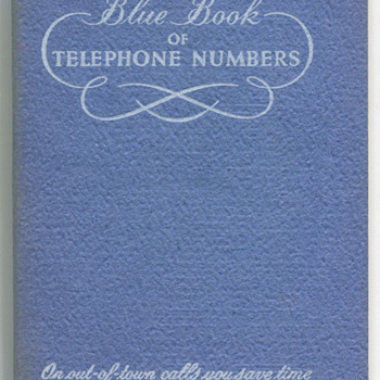 50's 60's Bell Telephone of PA Address Book  - Books