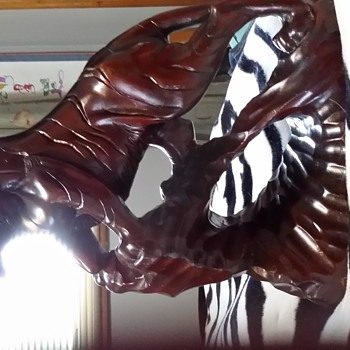 Antique Chinese Wooden Tiger
