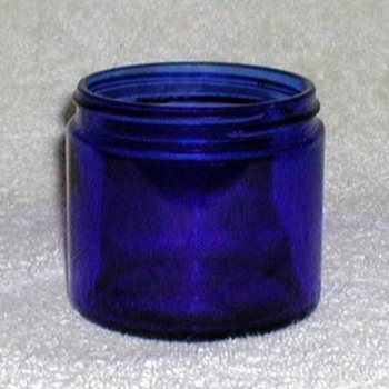 """Noxzema"" Cobalt Blue Jar - Bottles"