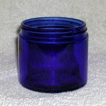 """""""Noxzema"""" Cobalt Blue Jar - Bottles"""