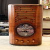 Simplex D, Deluxe Oval Tombstone Tube Radio- Art Deco
