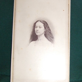 Kentucky woman with long flowing hair CDV - Photographs
